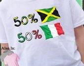 Italian Shirt - Jamaican Shirt - 50 Italian 50 - Jamaica nationality Flag Shirt -