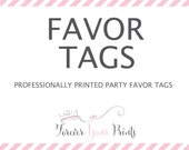 Professionally Printed Favor Tags / Gift Tags - PRINTING SERVICE