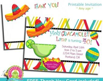 Mexican Fiesta Invitation / Fiesta Birthday Invitation / Mexican Invitation / Fiesta Invitation / Cinco De Mayo Invitation