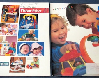 Fisher-Price Little People two Toy Catalogs 1991 & 1993