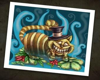 Cheshire Cat Print - Alice in Wonderland Art - Fairy tale -Fantasy Art Print