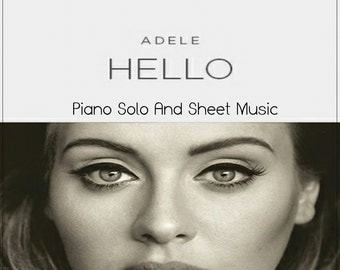 """Adele - Learn How to Play the popular song """"HELLO"""" on your keyboard -- Piano solo project"""
