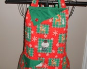 Rudolph and Sam the Snowman Women's Apron