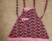 Hearts and Cupcakes Girl's Apron