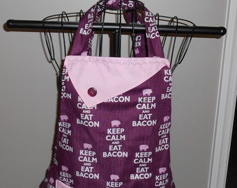 Keep Calm and Eat Bacon Women's Apron