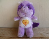 "Vintage Care Bear Cousin ""Bright Heart Raccoon"" Plush 1984"