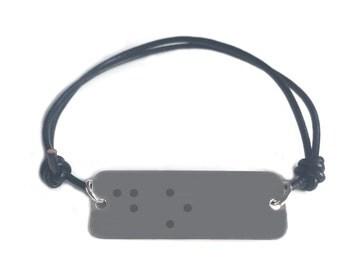 Braille script bracelet- DO - leather cord