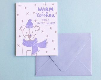 Letterpress Card-Warm Wishes