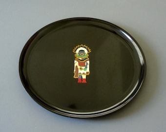 "Vintage Couroc of Monterey California 10-1/2"" Kachina Plate/Tray"