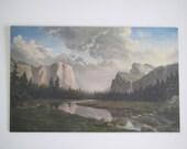 Vintage mountain landscape/ limited edition quality print/ Sierra Sunrise/ Dino Mossaroni
