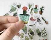 Succulent Flake Stickers 45 Pcs Scrapbooking Stickers Die Cut Stickers Paper Deco Sticker Stamp