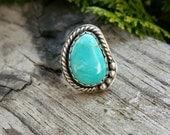 Kingman Turquoise Ring Size 5