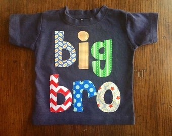 Sibling Shirt, Big Bro Shirt, Big Brother Shirt, Big Brother Announcement Shirt, Big Bro, Sibling Shirt - Choose Shirt Color and Sleeve Leng