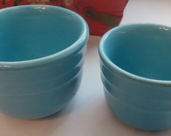 Vintage Oxford Stoneware Nesting Bowls ~ Ramekins