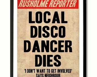 The Smiths 'Death Of A Disco Dancer'  Poster Art Print