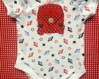 Splitscreen Campervan Baby Onesie