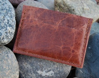 Antique American Buffalo Leather Card Holder, Card Case, Business Card Case