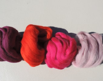 Felting Packs 4 Colors 1 Ounce Each Color 4 Ounces Total 3 Colorways To Choose Felting Spinning Crafts This Comes In A Nice Plastic Sleeve