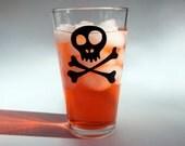 Skully Pint Glass