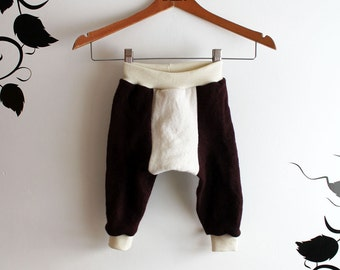 Wool longies/toddler pants/Merino wool pants/Long John's Size Med