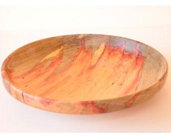 Flame Box Elder Wood Bowl, Turned Wood Bowl, Wood Serving Bowl, Platter