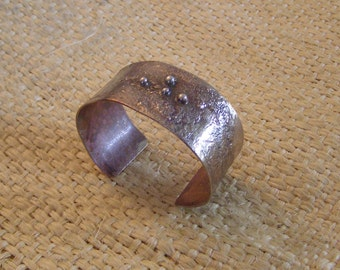 Reticulated Silver on Copper Cuff