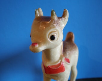 Vintage Mid Century Christmas Tree Ornament - Rudolph The Reindeer