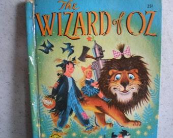 Vintage Mid Century Children's Book - Wonder Books - The Wizard of Oz