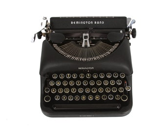 Remington Rand Typewriter - Vintage - 1940's - Excellent Working Order - FREE Domestic Shipping