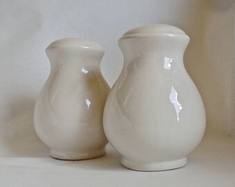 Creamy White Salt and Pepper Shaker Set