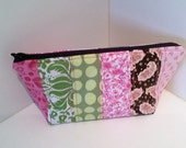 Patchwork cosmetics bag, proceeds to charity