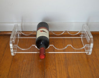 Modernist Lucite Wine Rack