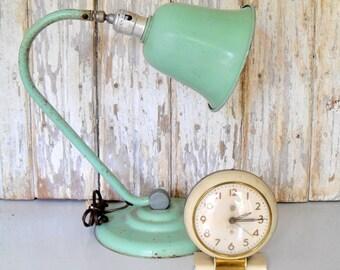 Vintage Lamp, Retro Lamp, Industrial Lamp, Green Lamp, Desk Lighting