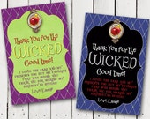 Descendants Inspired Thank You Cards