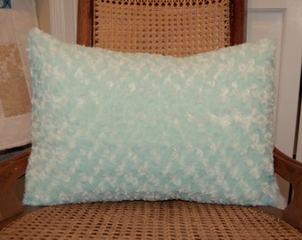 Sea Green Fluffy Pillow, Decorative, Super Soft Seaglass Pillow