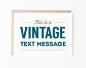 Vintage Text Message All Occasion Greeting Card | Funny + Humor | Just Because | Box Set or Single Card