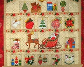 SALE Advent Calendar Christmas on cupboard with garland