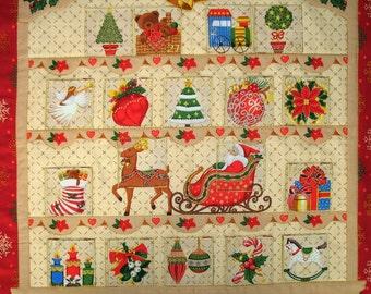 Advent Calendar Christmas, Santa's Sleigh, handmade, quilted