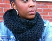 The Black Signature Infinity Scarf