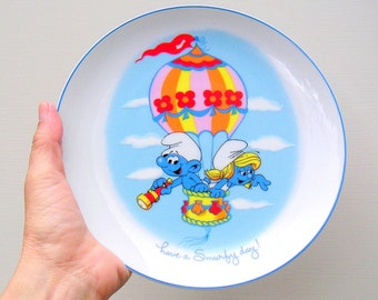 Smurfs Vintage Collectors Plate Wallace Berrie