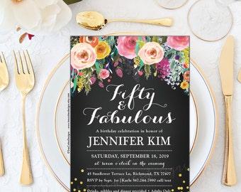 50th birthday invitation - For Any Ages - Milestone Invitation