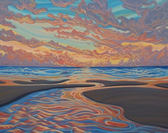 Long Beach, 5x7, art print, canadian artist, ready to frame