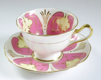 Vintage Pink Royal Albert Tea Cup and Saucer, Royal Albert Bubble Gum Pink Teacup Set, Pink Bone China Gifts for Her