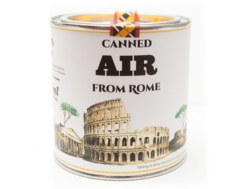 Original Canned Air From Rome, Italy, gag souvenir, gift, memorabilia
