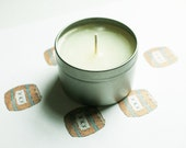 Gunpowder Scented Candle - Vegan Candle - Homemade Candles - Natural Candles - Tin Candle - Container Candle