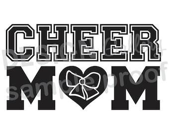Cheer Mom - DIY Instant Download - JPG image & SVG cut - Printable Digital Iron On