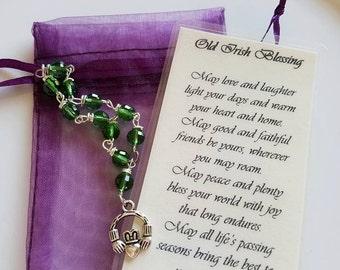 Old Irish Blessing, Irish Prayer or Irish Wish Mini-Rosary