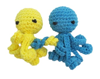Squeaky Octopus Tiny Dog Toy with Long Squiggly Arms - Choose Your Colors