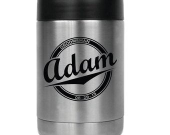 Personalized Beverage Holder- 24828 Name in Ballpark Circle