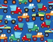 Little Movers Construction Vehicles in Paintbox  cx7269 - Michael Miller Fabric - By the Yard